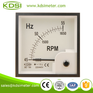 Hot sales BE-96 96 * 96 45-55HZ 220 / 440V HZ + RPM frequency meter