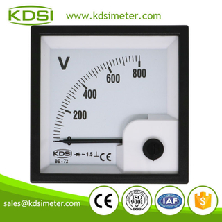 Factory direct sales BE-72 AC800V rectifier analog panel ac din rail voltmeter
