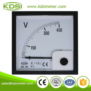 Portable precise BE-80 AC450V analog panel ac voltmeter & ammeter for solar power