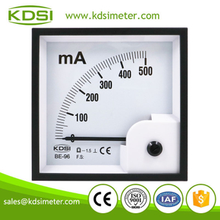 Easy installation BE-96 DC500mA analog dc amp panel meter