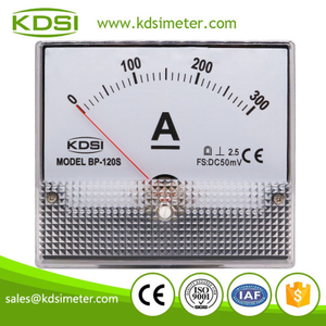 China Supplier BP-120S 120*100mm DC50mV 300A analog panel dc high precision ammeter