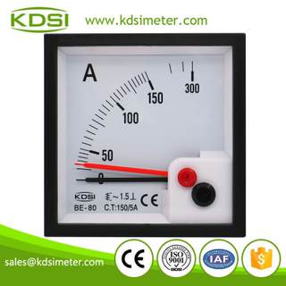 20 years Professional Manufacturer BE-80 AC150/5A with red pointer ac analog panel mount ammeter