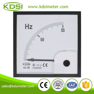 CE Approved BE-96 DC10V 45-55Hz dc analog voltage panel Hz meter