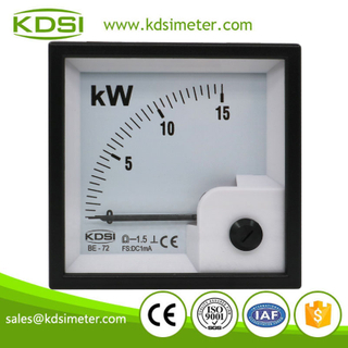 Safe to operate BE-72 DC1mA 15kW analog dc panel mount kW ammeter