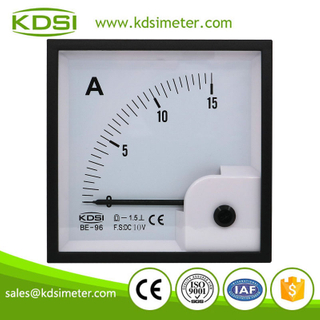 Original manufacturer high Quality BE-96 DC10V 15A analog panel volt ampere meter