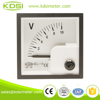 BE-48 48*48 DC Voltmeter DC10V high precision analog meter,panel meter