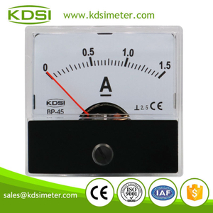 Hot Selling Good Quality BP-45 DC1.5A analog panel dc small ammeter