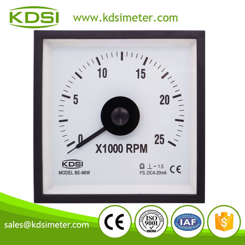 20 years Professional Manufacturer BE-96W DC4-20mA 25x1000rpm wide angle panel rpm meter for car