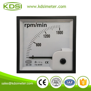 High quality BE-96 96 * 96 DC10V 1800rpm/min analog rpm meter