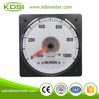 High quality wide angle meter LS-110 DC100V 1000m/min analog voltage speed meter