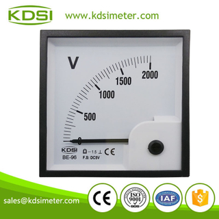 Factory direct sales BE-96 96 * 96 DC5V 2000V analog dc panel voltmeter
