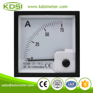 Easy installation BE-80 DC4-20mA 75A analog dc panel ampere indicator