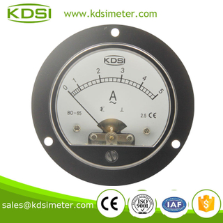 BO-65 AC Ammeter AC5A Moving Iron Movement round type panel meter