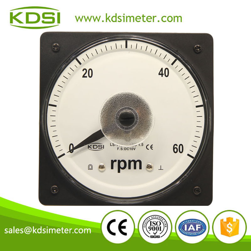 LS-110 RPM meter DC10V 60RPM wide angle analog panel rpm meter