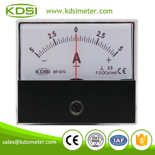 Instant flexible BP-670 DC+-1mA+-5A analog panel dc high precision ammeter
