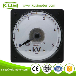Factory direct sales LS-110 DC10V 5kV wide angle panel analog dc panel mount voltmeter