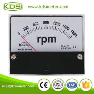 New model High quality BP-100S AC35V 1800rpm analog panel tachometer universal /rpm meter