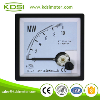 New model BE-72 3P3W 10MW 35/0.1kV 400/5A analog panel 3 phase power meter