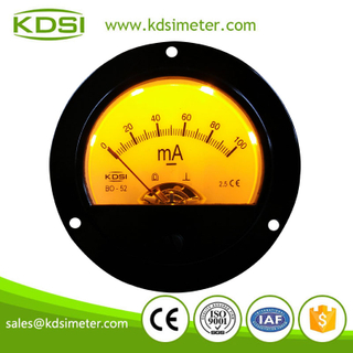 Multi-purpose BO-52 DC100mA Golden backlighting analog output automotive ammeter