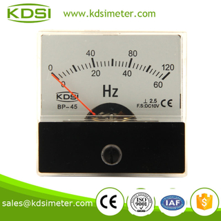 KDSI mini type BP-45 DC10V 60-120HZ analog voltage double scale frequency meter