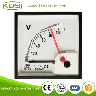 Durable in use High quality BE-96 DC4-20mA 110V double pointer mini dc voltmeter